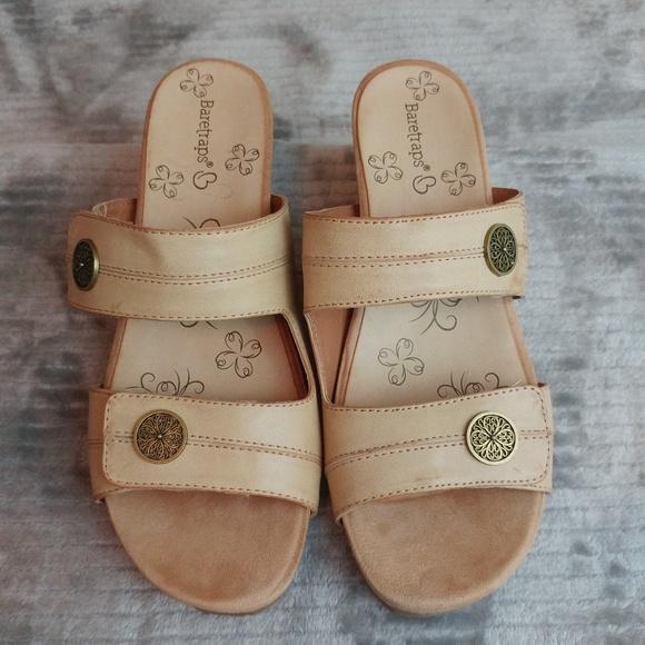 ee12736af9 BareTraps Shoes | Bare Traps Wedge Sandals Adjustable Straps Size 7m ...